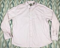 Haggar Men's Long Sleeve Button Down Shirt Classic Fit Size 2XL XXL