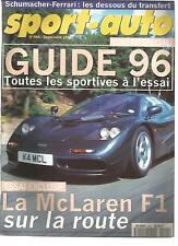 SPORT AUTO 1995 N° 404 MC LAREN  F1 BMW M3 F1 ALLEMAGNE HONGRIE RALLY NEW ZELAND