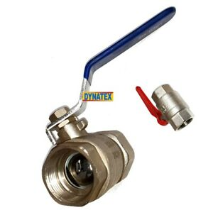 """Ball Valve Stop Tap 1"""" Inline Shut Off Cock For Air Line Water Oil Fluid NEW"""