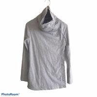 Lululemon Womens Sweater Wrap Size 4 Gray Snap Button Cowl Neck Sweatshirt Style
