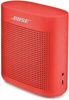 BOSE SOUNDLINK COLOR II 2 PORTABLE SPEAKER CORAL RED BLUETOOTH 1-YEAR WARRANTY