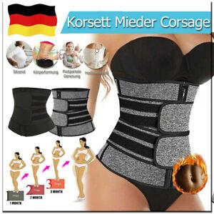 Damen Waist Trainer Sport Bauchweg Gürtel Abnehmen Schwitzgürtel Taillenformer