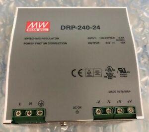 Mean Well DRP-240-24 240 Watt (240W) DIN Rail Power Supply 24V DC 10A