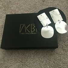 ANNIE COSTELLO BROWN Overt Sterling Silver Earrings $315 ACB SOLD OUT NEW