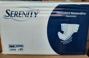 120 Pannoloni a Mutandina Serenity Super taglia  Large 4 confezioni da 30 pannol
