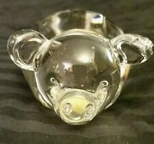Enesco Art Crystal Glass Pig Figurine or Paperweight w/Sticker - Perfect