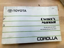 TOYOTA COROLLA E10 OWNERS MANUAL / HANDBOOK  1993 1994 1995 1996