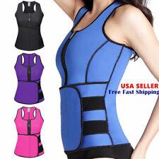 US Women Waist Trainer Vest Gym Adjustable Sauna Slimming Sweat Belt Body Shaper