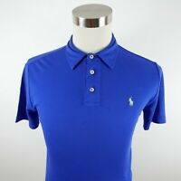 Polo Ralph Lauren Boys Soft Pima Interlock Cotton SS Blue Polo Shirt Youth Large