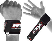 RDX Weight Lifting Wrist Straps Bodybuilding Grip Support Gym Wraps Padded Brace