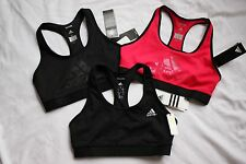 3 NEW Black Pink ADIDAS Tech Fit Athletic Gym Workout SPORTS BRA Lot Sz MEDIUM