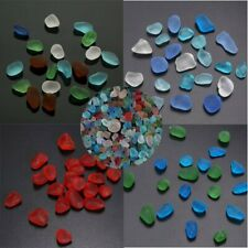 8-18mm Undrilled Lot Sea Beach Glass Bead Mixed Color Bulk Jewelry Pendant  AU1