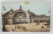 Frankfurt Hauptbahnhof Trolley Transportation Germany Vintage Postcard
