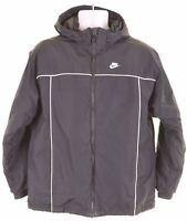 NIKE Boys Padded Jacket 13-14 Years XL Black Polyester  HL14
