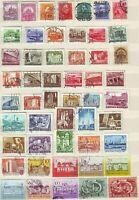 Ungarn 51 verschiedene Briefmarken, alt + neu, gestempelt, kl. Sammlung Lot