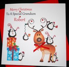 Handmade Personalised Christmas Card Daughter Son Granddaughter Grandson Niece