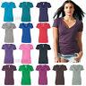 Next Level Womens CVC Deep V neck T Shirt S-2XL - 6640