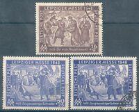 "SBZ Mi.-Nr.198/199 a,b o ""Leipziger Messe"" (MICHEL EURO 26,60)"