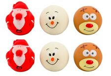 Christmas Goodboy Latex Face Ball Squeaky Balls Fetch Toy Bright Dog Puppy Toy