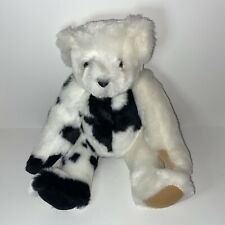 Authentic Vermont Teddy Bear Jointed Black & White Handmade Guaranteed For Life