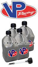 VP Racing 4-Pack Silver Fuel Jugs Diesel Pulling Truck Filler Hose with Cap Kit