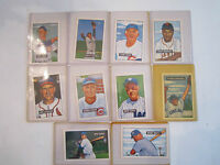 LOT OF 10 BASEBALL PICTURE CARDS REPRINTS -1951 SERIES- MICKEY MANTLE & MORE