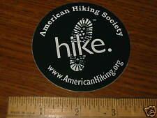 HIKE American Hiking Society Run Ride  STICKER DECAL