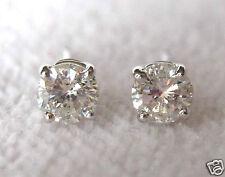 1/3 - 3/8 Kt a Taglio Brillante Rotondo 14k Oro Bianco e Diamanti