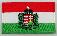 Hungary Coat of Arms Flag Patch Embroidered Iron On Applique Hungarian