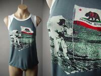 Man on the Moon Graphic California Flag Muscle Tee Tank Top 227 mv Shirt S M L