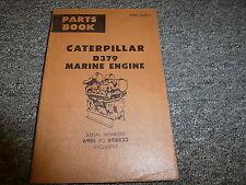 Caterpillar Cat Model D379 Marine Engine Parts Catalog Manual S/N 69B1-69B823