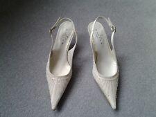 NEW Marian of Spain Ivory Beaded Sling Back Shoes Wedding etc Size EU 36 UK 3
