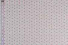 Mini Stars Fabric - White & Pink - Upholstery, Curtains, Cushions & Craft Fabric