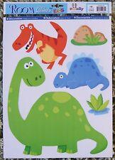 Dinosaur Wall Stickers Nursery Kids Girls Boys Bedroom Decals Stickarounds Baby