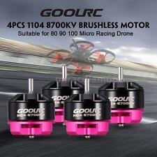 4pcs GoolRC 1104 8700KV 2S Brushless Motor CW/CCW for 80 90 100 Quadcopter X7D5