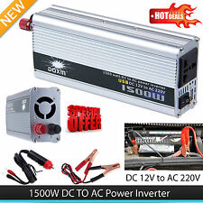 1500W Car DC 12V to AC 220V Power Inverter Charger Converter for Electronic FB