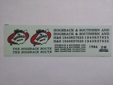 """DM Custom Decals HO Scale Hogsback & Southern """"The Hogsback Route"""" 1986  ~ TS"""