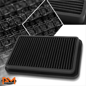 For 92-02 Corolla/Millenia/Prizm Reusable Multilayer High Flow Air Filter Black