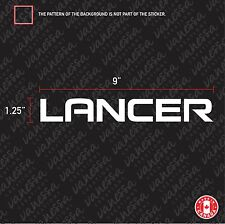 2x MITSUBISHI LANCER sticker vinyl decal