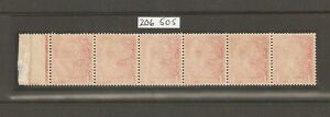 GV Royal Cypher Spec N16 (8) Pale Red Offset strip with Cert
