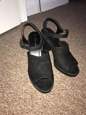 Black Suede Ankle Boots Size 6