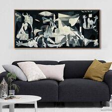 "Framed Artwork Guernica by Pablo Picasso Giclee Print Home Decor 20""x45"""