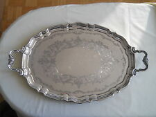 "STUNNING BIRKS STERLING 2 HANDLE SERVING TRAY 27"" 2680 GRAMS"