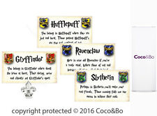 Coco&Bo 8 x Hogwarts Houses Table Cards - Harry Potter Theme Decoration