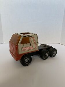 Vintage 1970's Tonka Red And White Semi Cab Truck