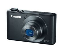 Canon PowerShot S110 12.1MP Digital Camera Black / Bundle / Excellent Condition