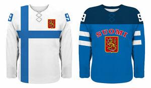 NEW 2021 Finland Suomi Hockey Championship Jersey NHL Jokinen Ruutu Barkov Rinne