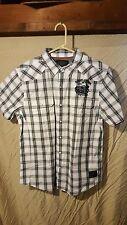 Harley-Davidson Mens S/S Performance Plaid Woven Shirt 96624-13VM  Size XL