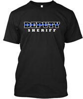 Deputy Sheriff Thin Blue Line - Hanes Tagless Tee T-Shirt