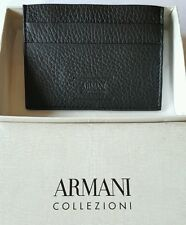 ARMANI COLLEZIONI Slim Leather Cardholder Wallet x4 Brand New with Gift Box